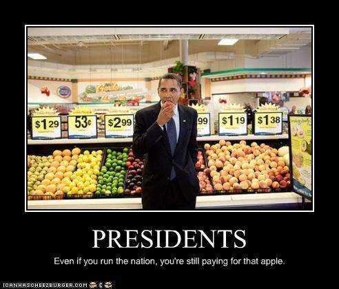 apple barack obama Democrat food president stealing - 3468612608