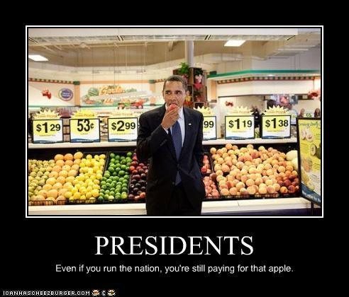 apple barack obama Democrat food president stealing - 3468612608
