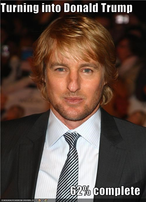 actor donald trump lookalike owen wilson transformation - 3469603072