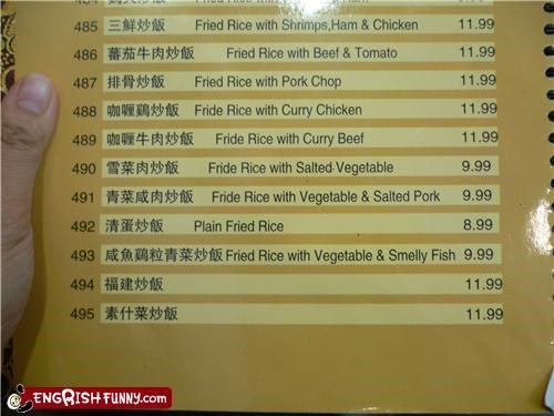 fish food menu restaurant smelly - 3469607424