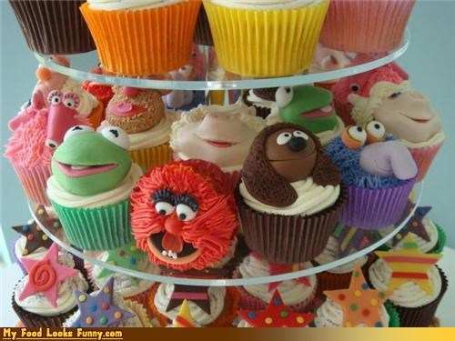 animal,cupcakes,gonzo,jim henson,kermit,miss piggy,muppets,rowlf,Sweet Treats