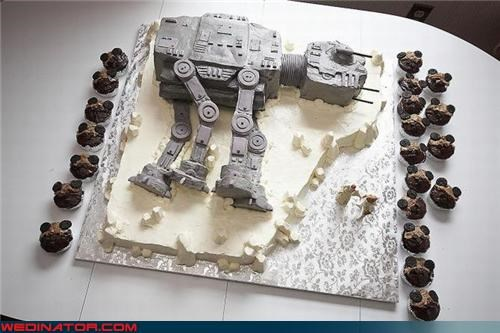 at at,Dreamcake,droid,grooms-cake,happy-star-wars-day,r2d2,star wars,themed wedding cake,Wedding Themes
