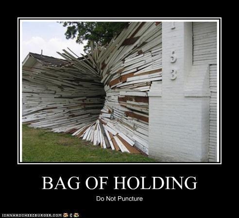 BAG OF HOLDING Do Not Puncture