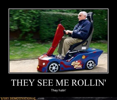 chamillionaire,old people,Pure Awesome,racing against death,rascal,they see me rollin