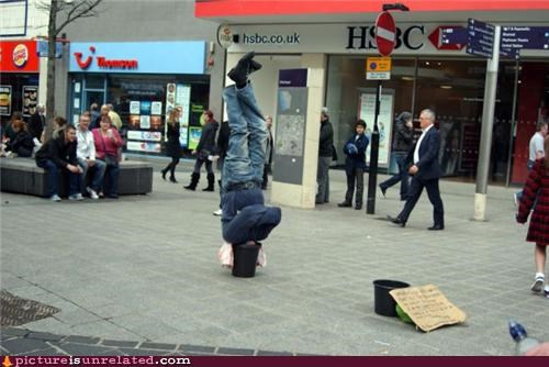 balancing,bucket,burger king,public,wtf,yoga