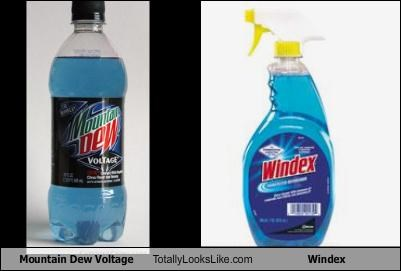cleaning tool,drink,junk food,mountain dew,mountain dew voltage,windex