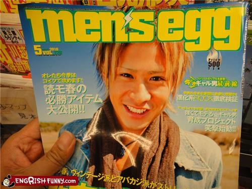 eggs,magazine,men