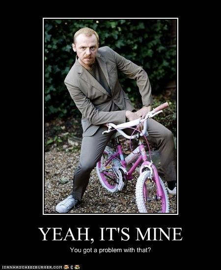 actor,bicycle,feminine,Simon Pegg