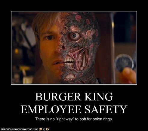 aaron eckhart,actor,batman,burger king,gruesome,harvey dent,the dark knight
