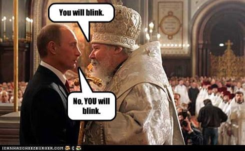 blink Moscow patriarch kirill 1 russia russian orthodox church staring contest Vladimir Putin vladurday - 3475704064