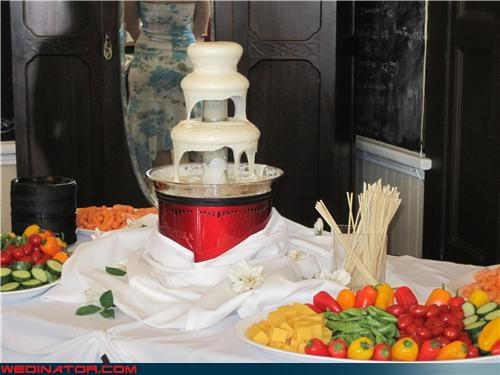 buffet,dip,eww,gross,ranch dressing fountain,reception appetizer,Sheer Awesomeness
