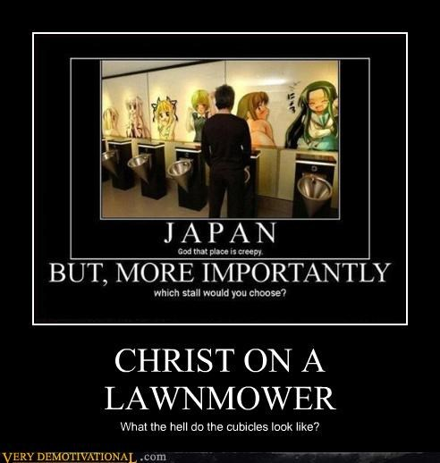 wtf Japan lawnmower cubicle - 3475862784