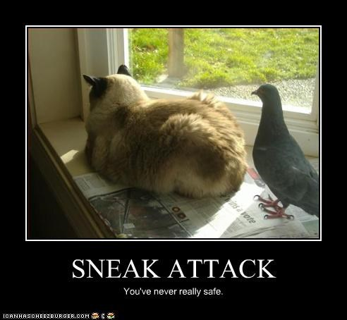 SNEAK ATTACK You've never really safe.