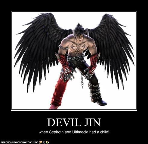 DEVIL JIN when Sepiroth and Ultimecia had a child!