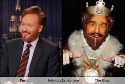 burger king comedian conan obrien fast food mascot the king - 3477837568