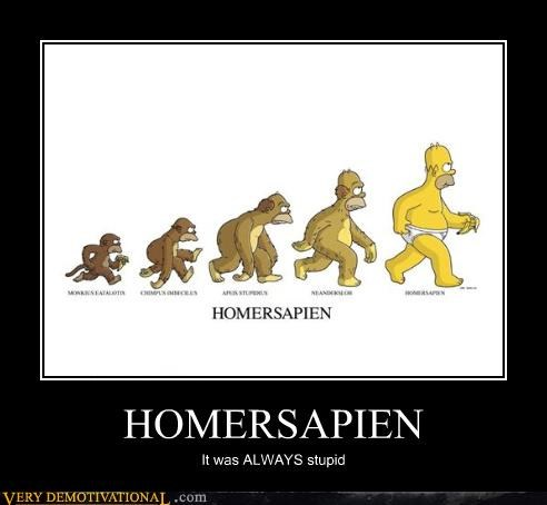HOMERSAPIEN It was ALWAYS stupid