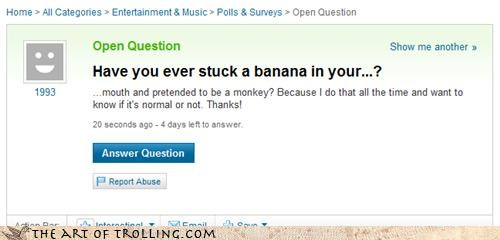 banana dance monkey mouth Yahoo Answer Fails - 3482254080