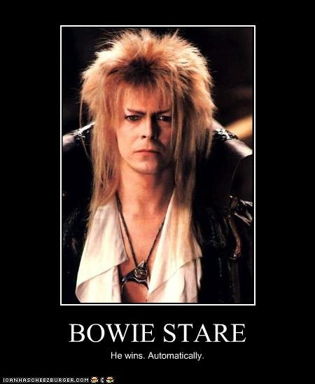 BOWIE STARE He wins. Automatically.