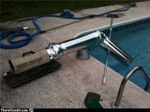 backyard heater pool summer take forever - 3484283136