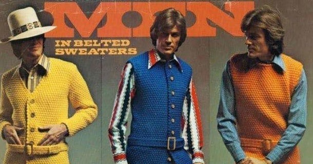 Funny photos of mens clothing and fashion from the 1970's.