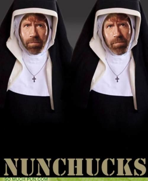 catholic,chuck norris,nun,religion