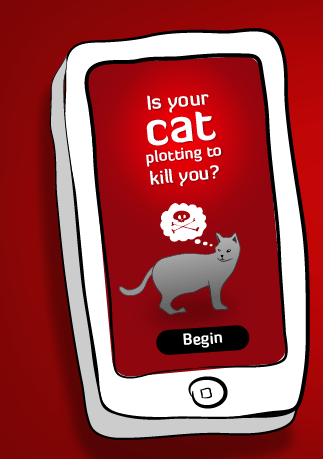 This app will tell you if your cat is plotting to kill you
