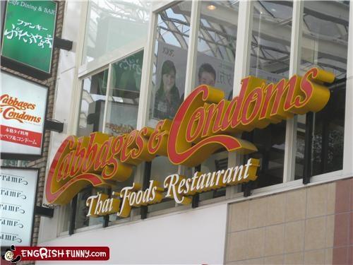 condom restaurant store Thai