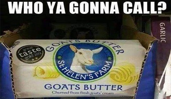 goat memes for sunday with who you gonna call, goat butter as cover meme