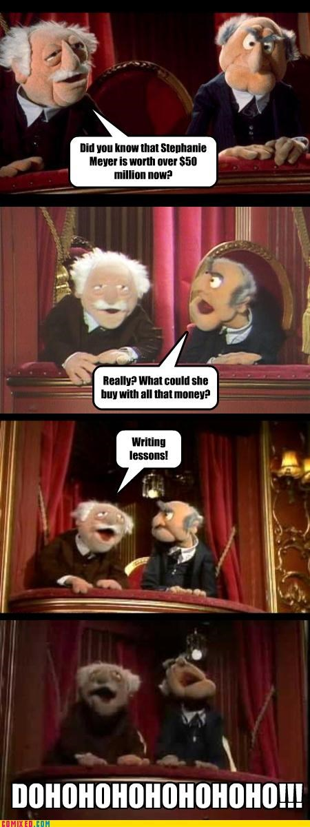 education money muppets statler the internets TV twilight Waldorf - 3488741376