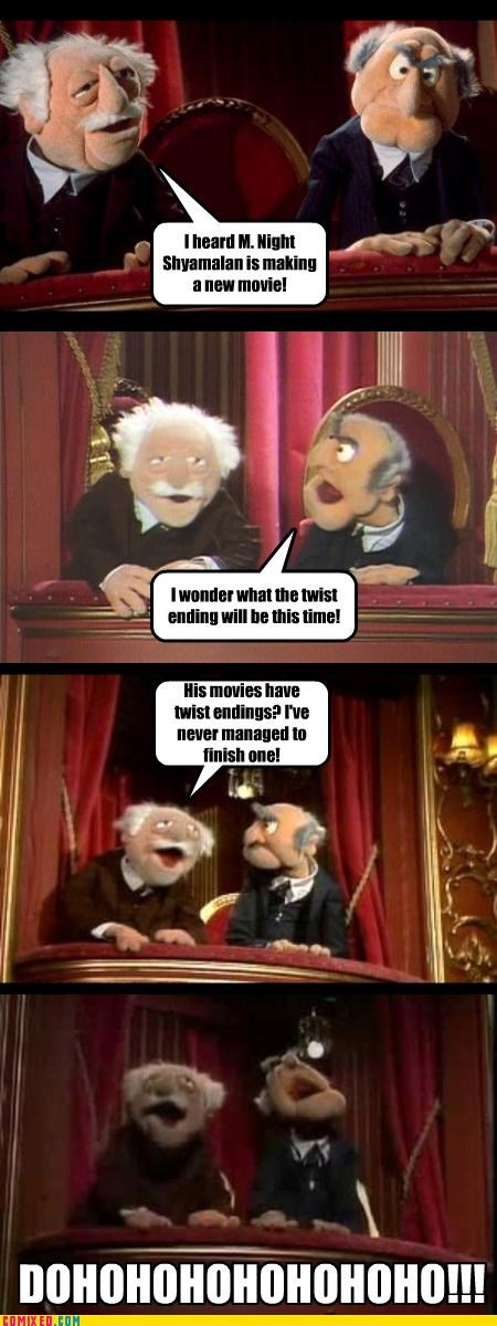 bad movies,m night shyamalan,muppets,statler,the internets,Waldorf