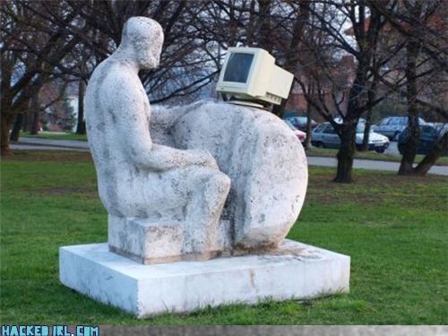 computer humor sculpture - 3489461760