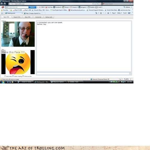 Chat Roulette,derp,make this face