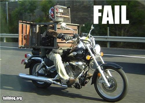 bbq failboat motorcycle transportation