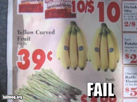 Ad banana failboat fruit grocery yellow - 3491685632