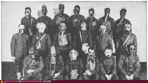 gas mask group photos post apocalypes wtf - 3491798784