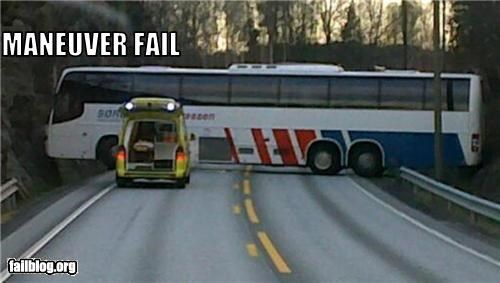 blocked,bus,failboat,road,wrong turn