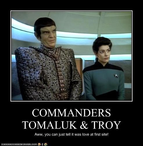 COMMANDERS TOMALUK & TROY Aww, you can just tell it was love at first site!