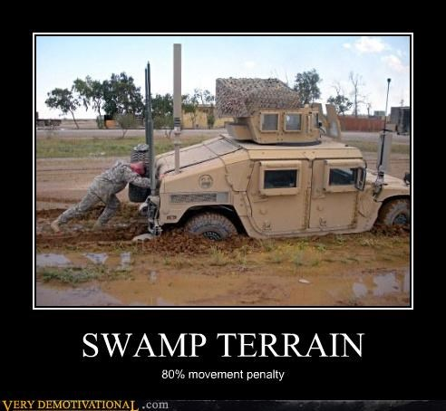 hilarious,hummer,move penalty,nature,nerds,pushing,soldier,swamps