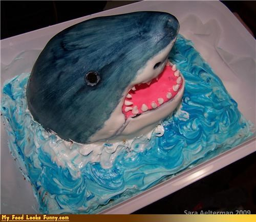 cake,jaws,kitchen,safe to go in the kitchen,shark,shark cake,Sweet Treats