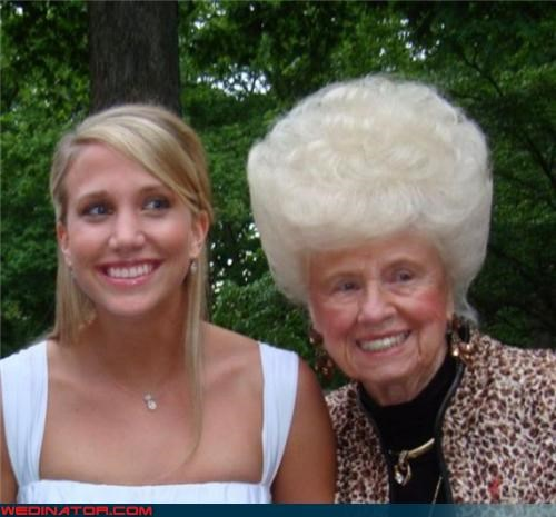 awesome relative beehive bride crazy-hair-do fashion is my passion Grams surprise wtf - 3495704320