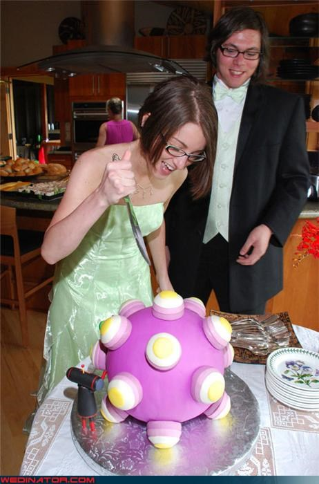 Crazy Brides crazy groom Dreamcake fashion is my passion fondant Katamari Damacy Playstation Cake surprise themed wedding cake were-in-love Wedding Themes