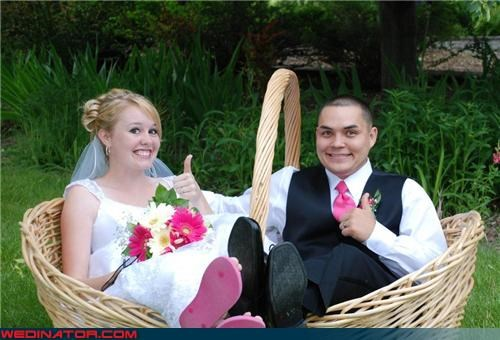 bride bride and groom in a giant basket fashion is my passion funny wedding photos groom love in a basket miscellaneous-oops professional wedding photography surprise tacky wedding photo technical difficulties were-in-love wtf - 3495761152