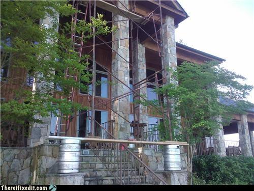 beer keg ladder scaffolding unsafe - 3496091392