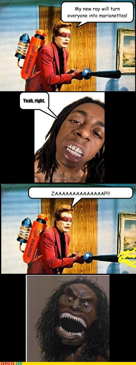 A Milli batman freaking out joker lil wayne puppets