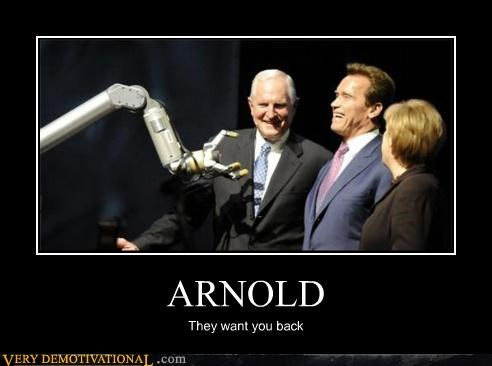 Arnold Schwarzenegger,bionics,california,Sad,singularity,skynet,terminator