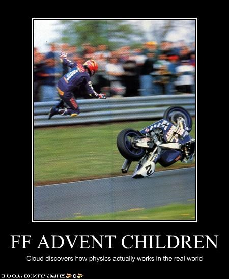 FF ADVENT CHILDREN Cloud discovers how physics actually works in the real world