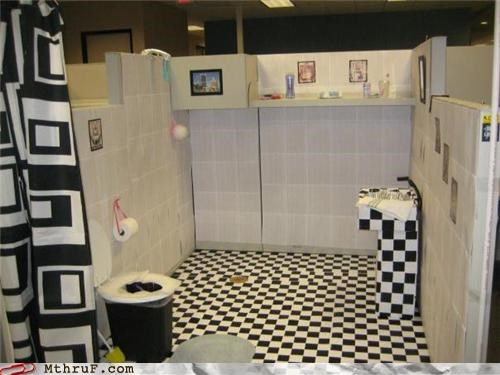 all out art awesome bathroom conversion boredom clever creativity in the workplace creepy cubicle boredom cubicle prank daaang decoration dickhead co-workers dont-drop-the-soap ergonomics holy cow impressive ingenuity prank prison shower pwned screw you serious business sneaky Terrifying wiseass wrapping - 3496777984