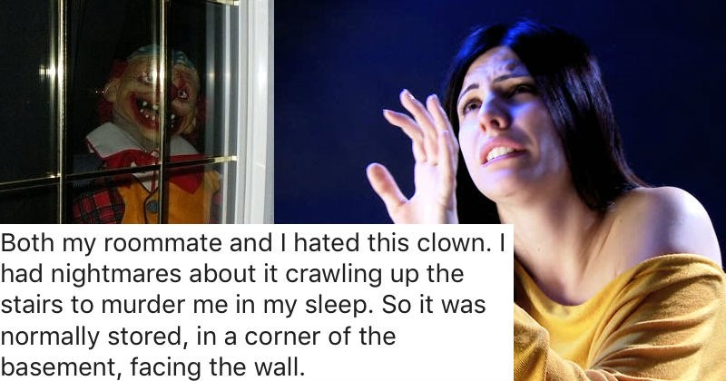 Guy takes it too far when he pulls an evil clown prank on his roommate.