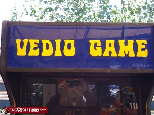 arcade hilarious typo Unknown video games
