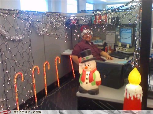 art,boredom,cheerful glow,Chris Hansen,christmas,christmas lights,creativity in the workplace,creepy,cubicle boredom,decoration,electricity,filthy pervert,hardware,holiday spirit,lights,mess,osha,power drain,Sad,Terrifying,to catch a predator,wasteful,Xmas